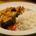 Thai-Curry mit Aubergine und Kartoffel