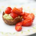Avocado-Erdbeertörtchen