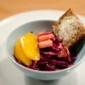 Rotkohlsalat mit Orange und Vanlle