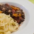 Balsamico-Linsen mit Pasta