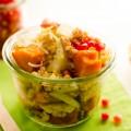 Herbstsalat mit Kürbis, Hirse und Granatapfel