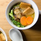 Miso Suppe mit Soba und Shiitake