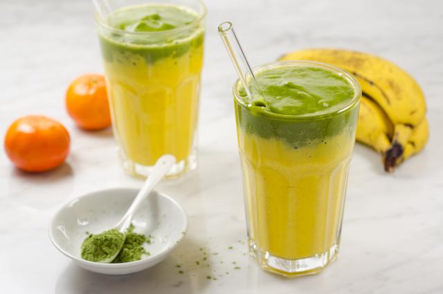 Gelb-grüner Smoothie
