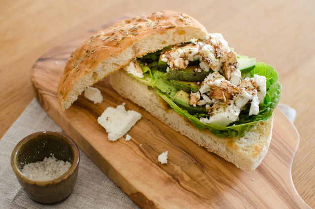 Feta-Avocado-Sandwich