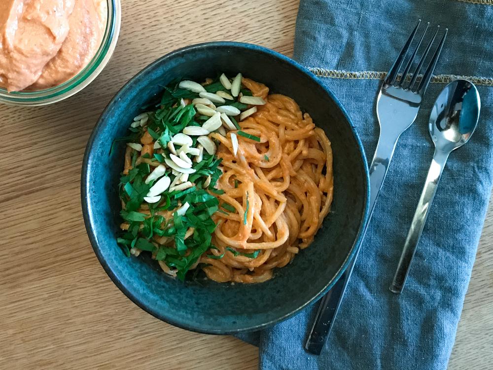 Ricotta-Tomaten-Pesto